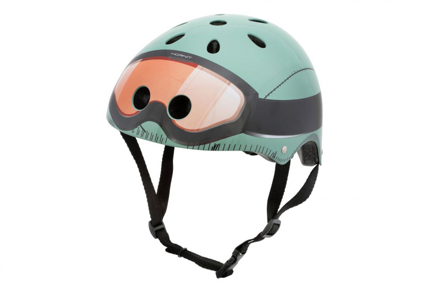 Mini Hornit Lids kinderhelm Military mintgroen mt 53 58 cm