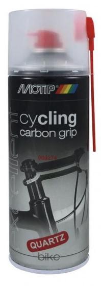 Motip montagespray Cycling Carbon Grip 400 ml vet/kwarts zwart