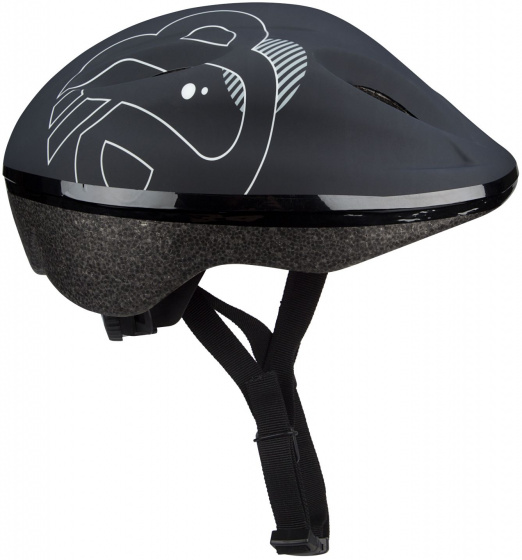 Nijdam helm Dark Storm junior 52 56 cm EPS/Pet zwart