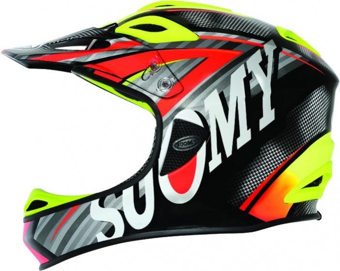 Suomy helm Jumper Carbon unisex zwart/rood/geel maat 59 cm