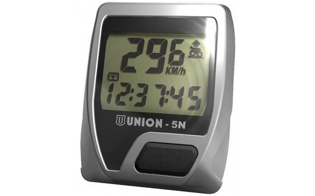 Union Fietscomputer 5N - 5 Functies