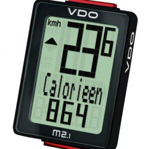 VDO fietscomputer M2.1 WL analoog zwart 10 functies