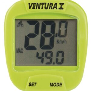 Ventura Fietscomputer X 10 Functies Bedraad Groen