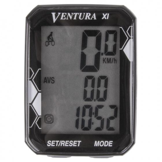 Ventura fietscomputer XL 11 functies zwart