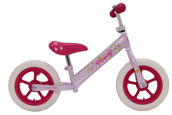 Amigo - Loopfiets Princess 12 Inch Meisjes Roze