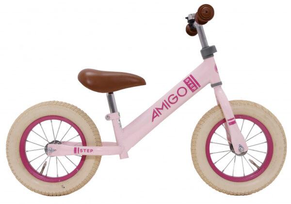 Amigo - Loopfiets Step 12 Inch Meisjes Roze