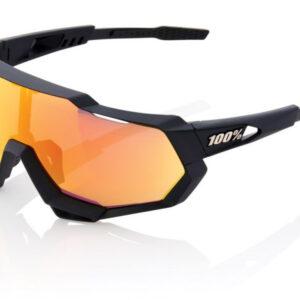 Bril 100% Speedtrap Soft Tact - Zwart/Oranje