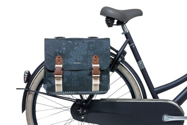 Dubbele fietstas Basil Boheme Carry All - 35 liter - blauw