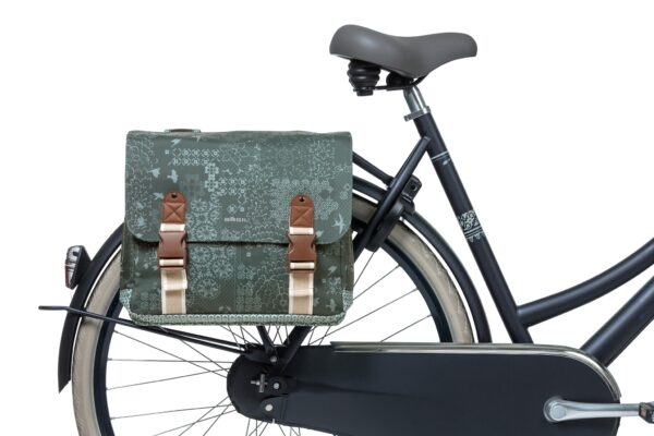 Dubbele fietstas Basil Bohème Carry All - 35 liter - groen
