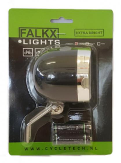 Falkx voorlicht 20 leds batterijen zwart/zilver