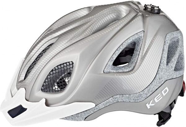 KED fietshelm Certus Pro unisex mesh/schuim zilver mt 55 63 cm