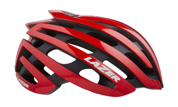 Lazer racefiets helm Z1 EPS schuim rood 4 delig mt M