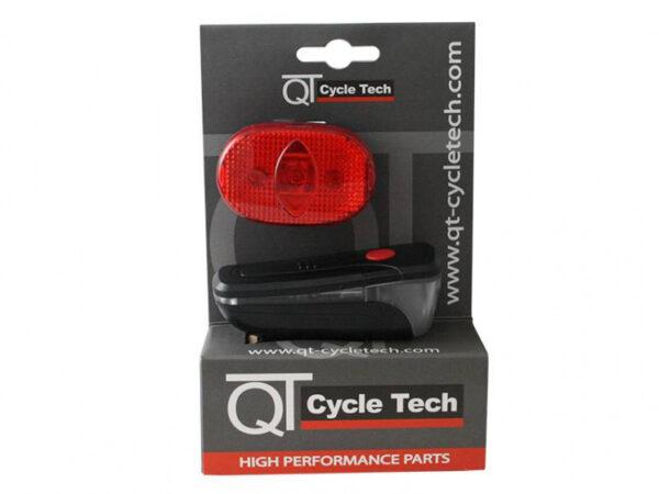 QT Cycletech verlichtingsset batterijen zwart/rood 2 delig