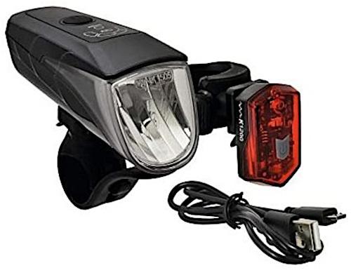 Büchel verlichtingsset Osram USB 15/30 lux wit/rood