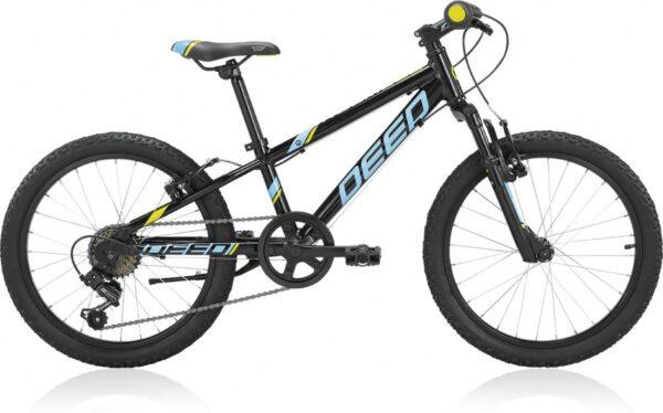Deed - Rookie 206 20 Inch 24 Cm Jongens 6v V-brake Zwart/lichtblauw