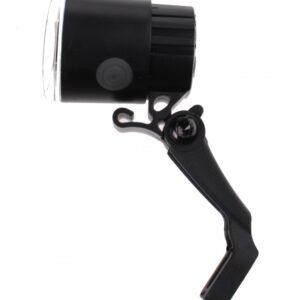 Falkx koplamp EL5C led met beugel 4,5 cm zwart