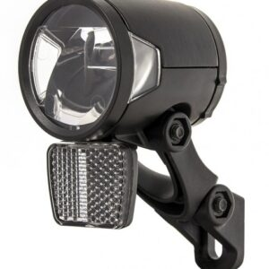 Herrmans koplamp H Black MR8 dynamo led 50 mm zwart
