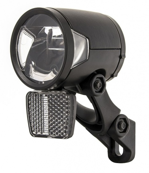 Herrmans koplamp H Black MR8 dynamo led 50 mm zwart