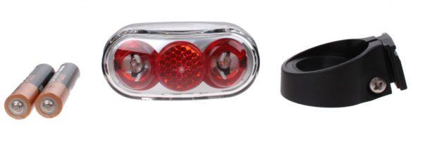 AXA achterlicht Basta Micro Scope batterij led rood/grijs