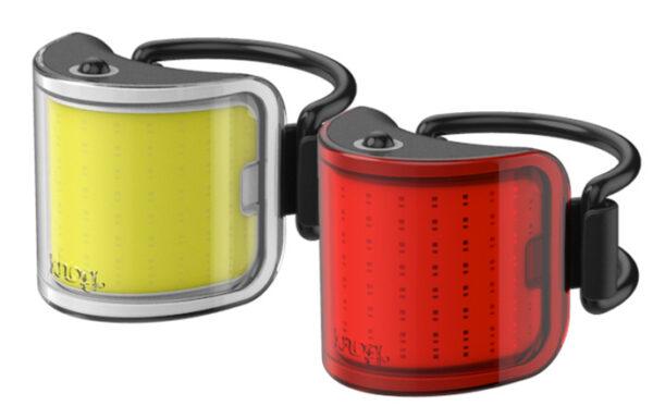 Knog verlichtingsset Lil' Cobber USB oplaadbaar rood/geel
