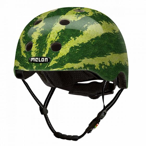 Melon fietshelm real melon groen maat M L