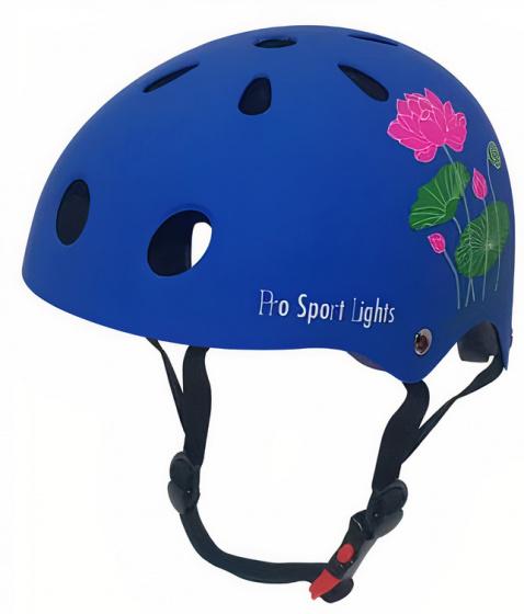 Pro Sport Lights fietshelm junior polystyreen blauw maat M