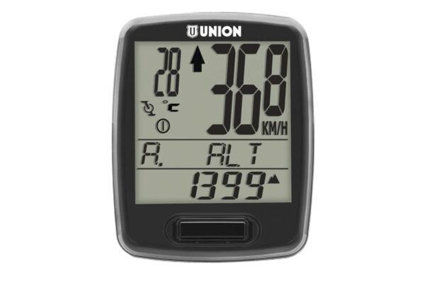 Union Fietscomputer 7 functies (draadloos)- Zwart