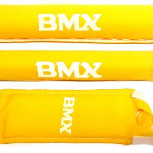 HZB padset BMX junior polyester geel 3 delig
