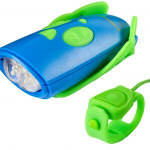 Hornit fietslicht Mini 9,8 x 4,4 cm aluminium blauw/groen