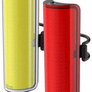 Knog verlichtingsset Big' Cobber USB oplaadbaar rood/geel S