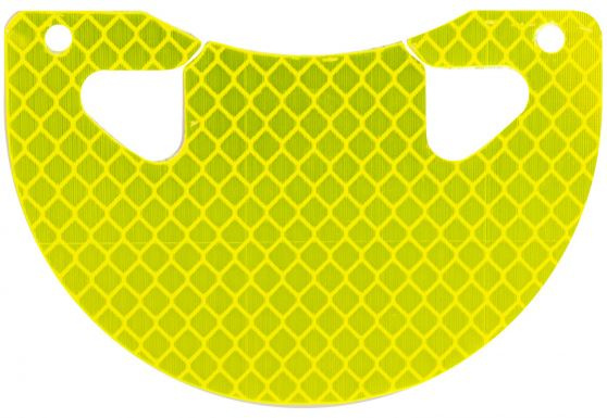 M Wave reflector 8 cm geel/rood