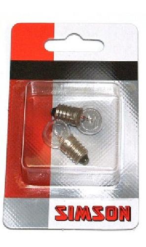 Simson fietslampen voor 6 Volt glas transparant 2 stuks