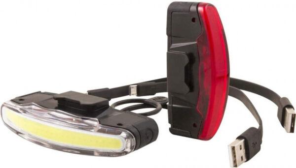 Spanninga verlichtingsset Arco XB led 30 lux USB zwart 2 delig