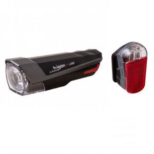 Spanninga verlichtingsset Trigon 10 led batterij zwart