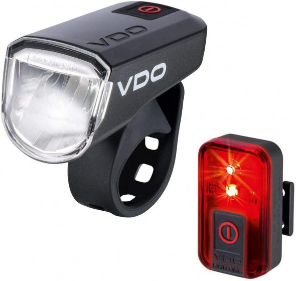VDO verlichtingsset Eco light M30 FL Red RL 30 LED USB zwart