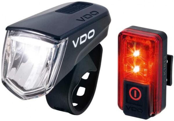 VDO verlichtingsset Eco light M60 FL Red RL 60 LED USB zwart