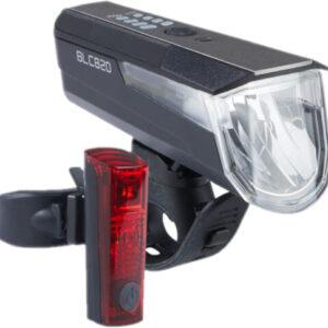 Büchel verlichtingsset BLC820 80 lux USB oplaadbaar zwart