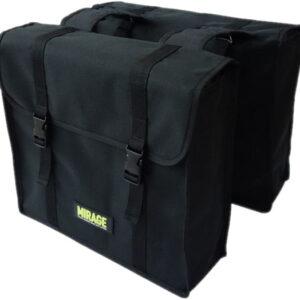 Mirage dubbele fietstas Black Magic 26 liter polyester zwart
