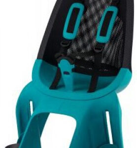Qibbel achterzitje Air Q909 junior mesh zwart/turquoise