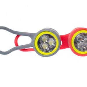 Simson verlichtingsset Simmy led aluminium/siliconen rood/grijs