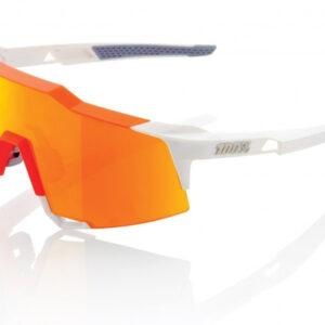 Bril 100% Speedcraft LL - Wit/Oranje