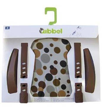 Qibbel Stylingset Luxe Fietszitje Voor Dots Brown
