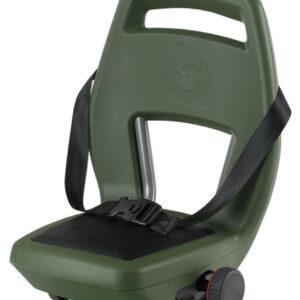 Qibbel fietszitje achter 6+ Junior Seat legergroen/zwart 4 delig
