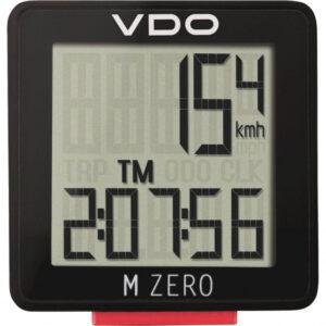 VDO fietscomputer M Zero WR807 zwart/rood u