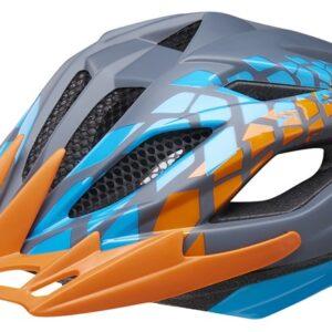 KED fietshelm Street Junior Pro grijs/oranje maat 53 58 cm