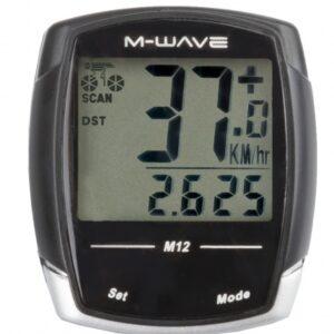 M Wave Fietscomputer 12 Functies Zwart