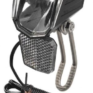 M Wave koplamp Apollon D 50 dynamo LED RVS zwart