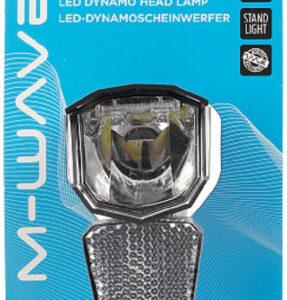 M Wave koplamp Apollon D50 dynamo LED RVS zwart