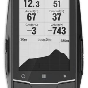 Meilan fietscomputer GPS navigatie oplaadbaar 2,6 inch zwart