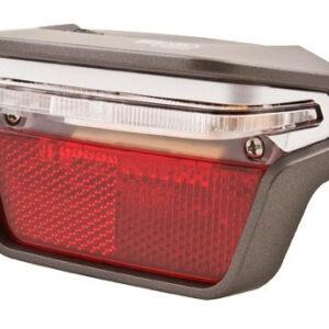 Spanninga achterlicht Brasa XDS dynamo led 80 mm zilver/rood